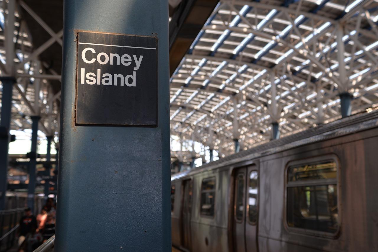 New York Subway Stop At Coney Island