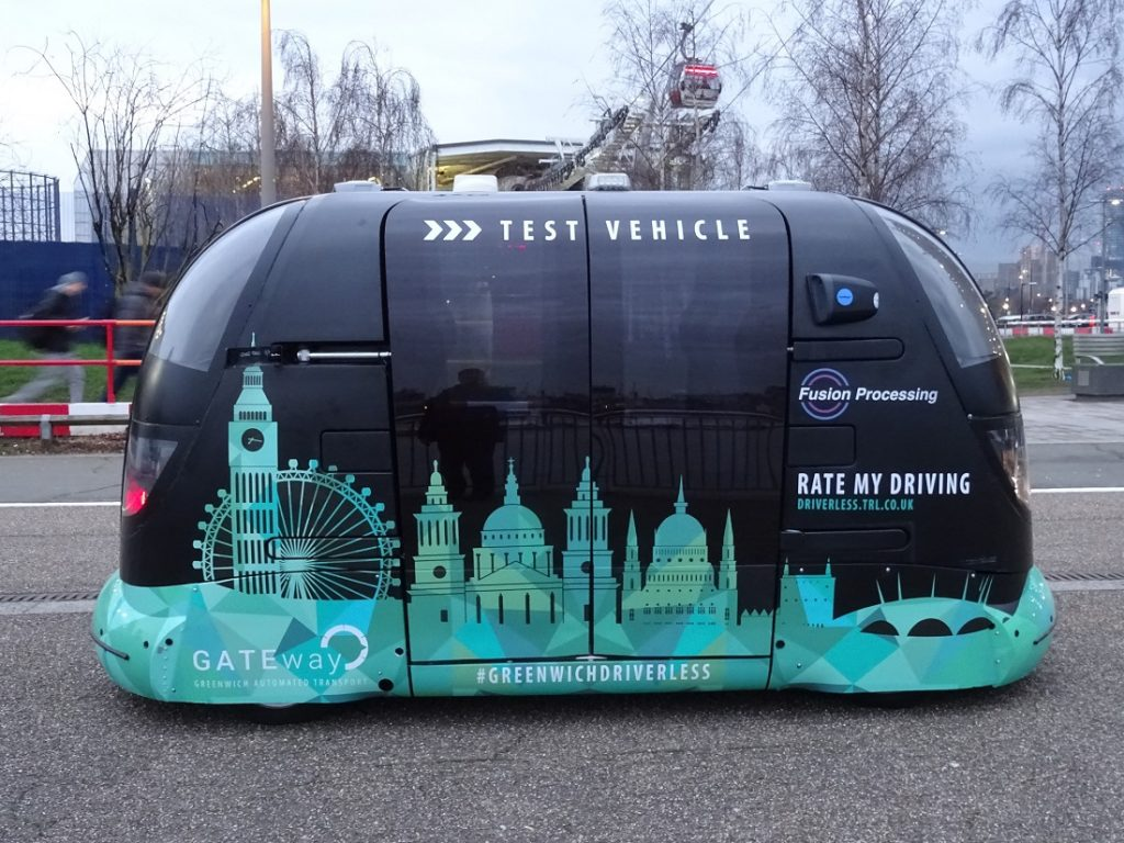 Driverless-Vehicle in London